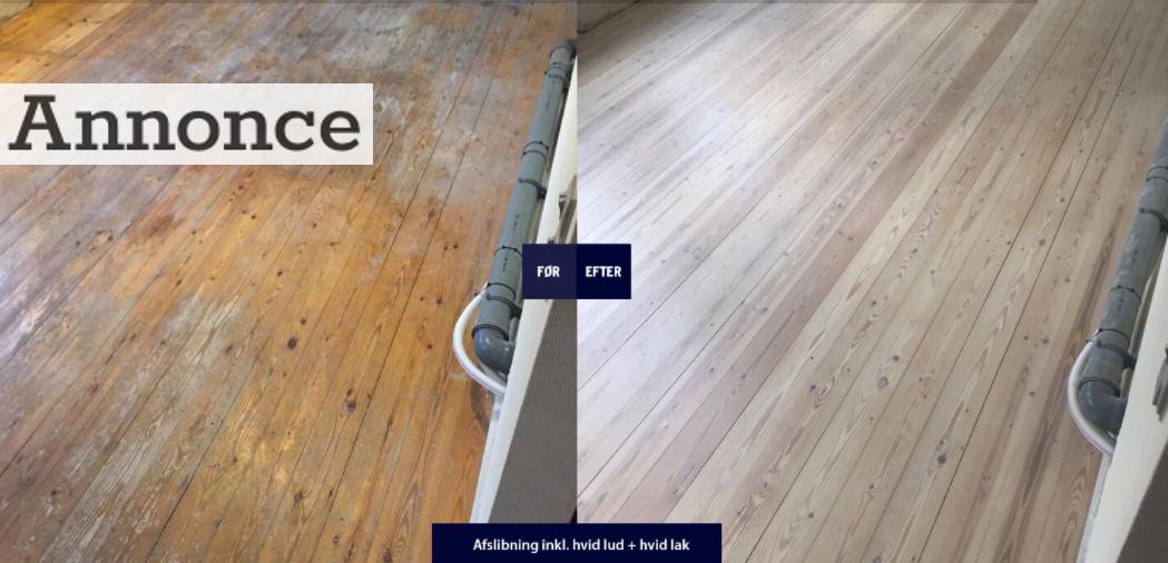 Sådan vil dit gulv komme til at se ud, efter det er blevet slebet.